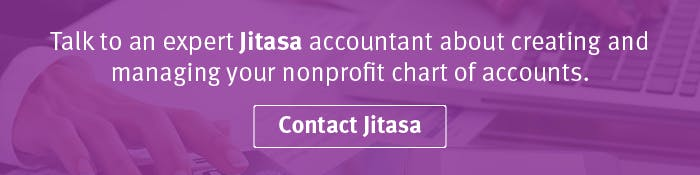 Talk to a Jitasa expert about your nonprofit chart of accounts.